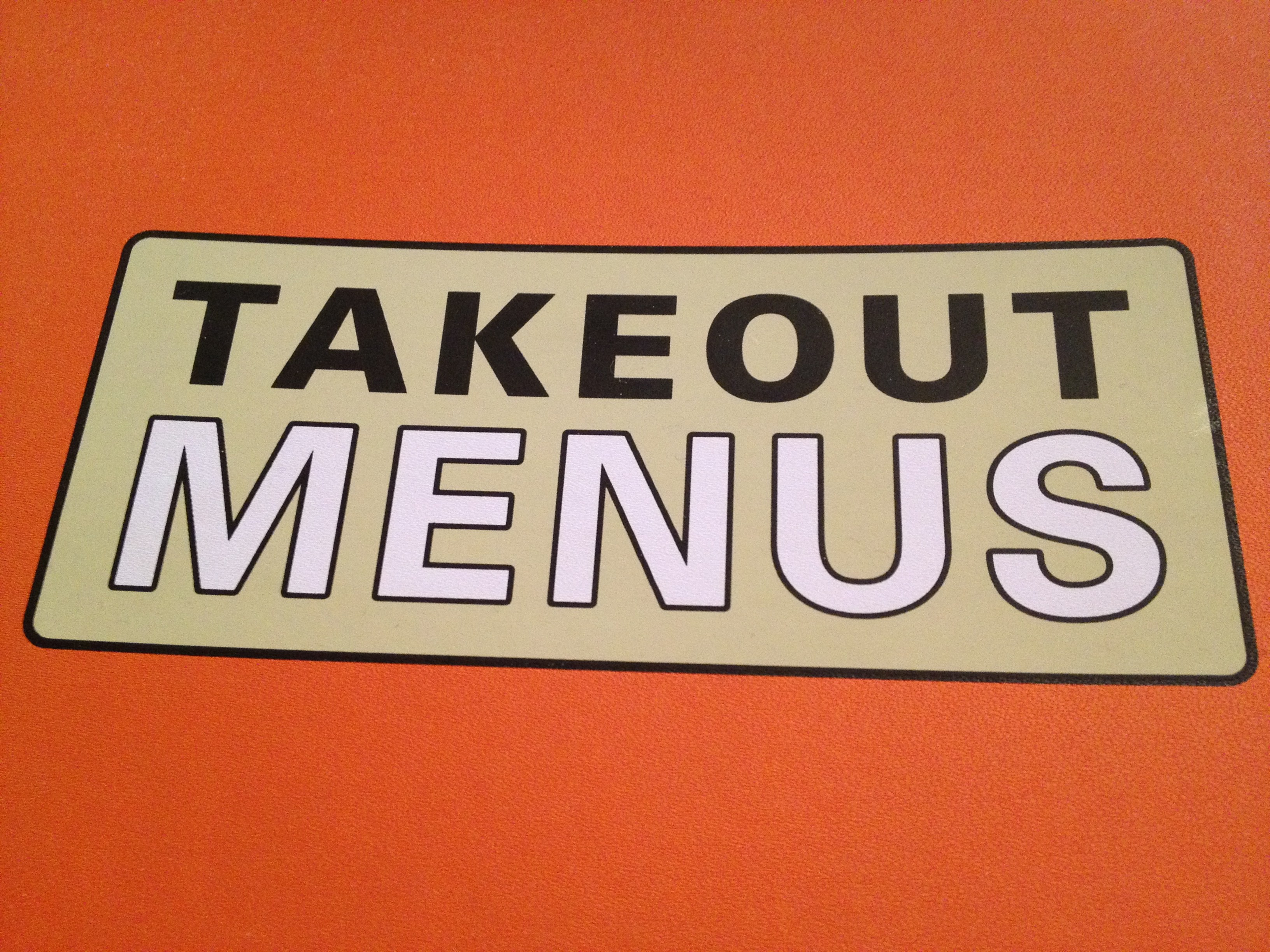 Takeout menu binder more cooking at home